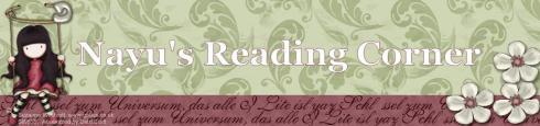 nayu's reading corner header pink text